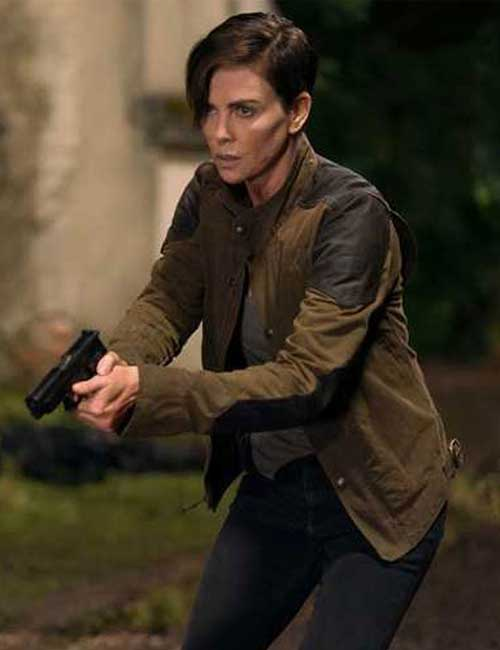 Brown Jacket Worn by Charlize Theron as Andy in The Old Guard