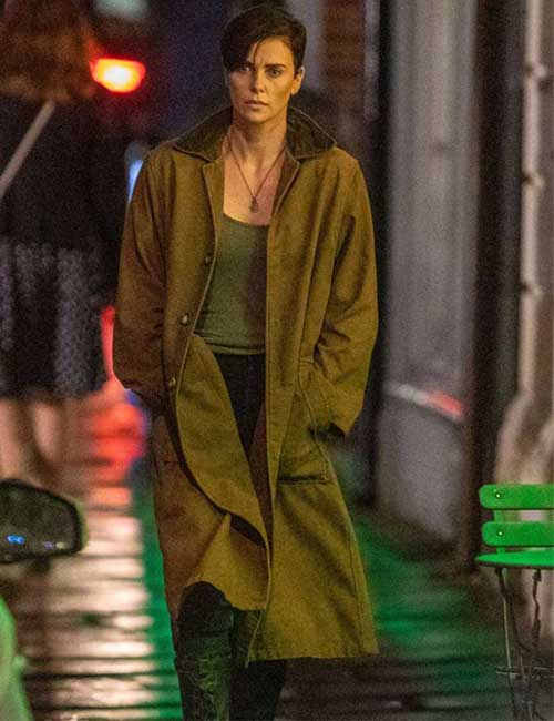Charlize Theron The Old Guard Trench Coat