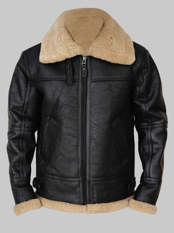 shearling bomber jacket mens