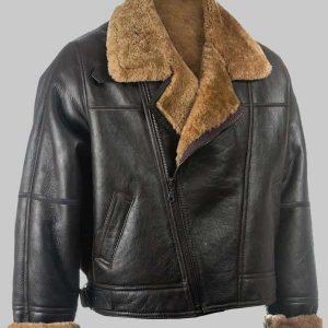 Real Sheepkin Shealring B3 Jacket For Mens