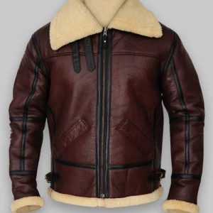 B3 Brown RAF Shealring Sheepskin Bomber Jacket