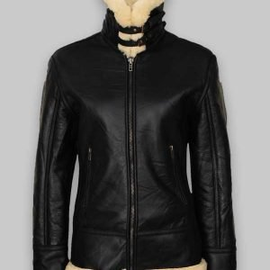 Women's B3 Black Shearling Leather Jacket