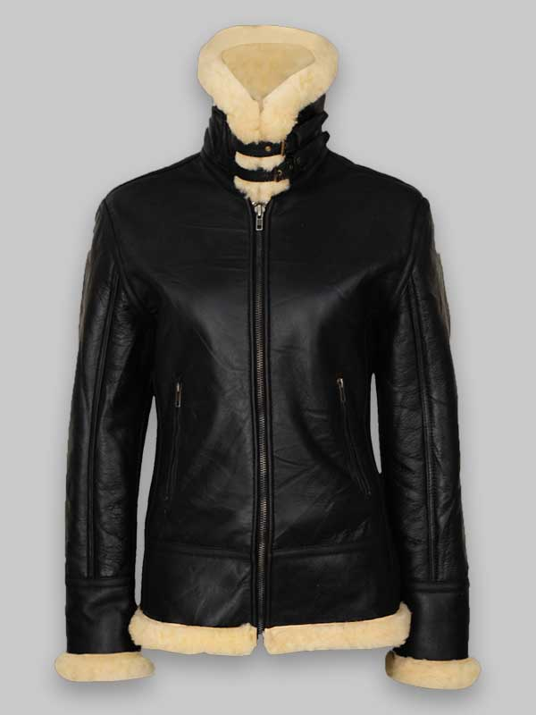 Women's B3 Black Shearling Leather Jacket