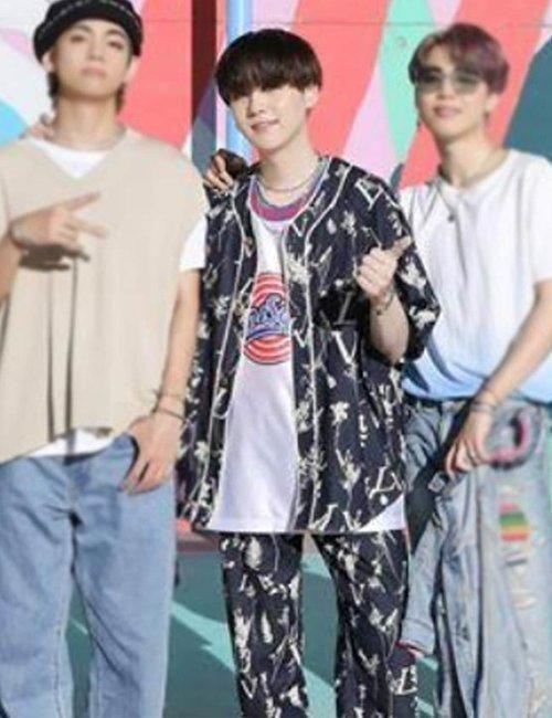 Suga-Floral-BTS-Dynamite-Blue-Cotton-Suit