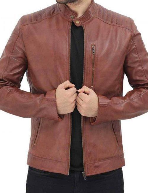 Benjamin-Mens-Cafe-Racer-Brown-Leather-Jacket