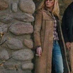 Kelly-Reilly-Brown-Yellowstone-Long-Leather-Coat