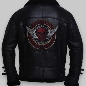 Real Sheepskin Shearling Leather Jacket For Mens