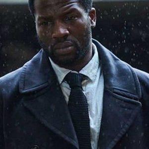 Black Trench Coat worn by Sope Dirisu in TV Series Gangs of London