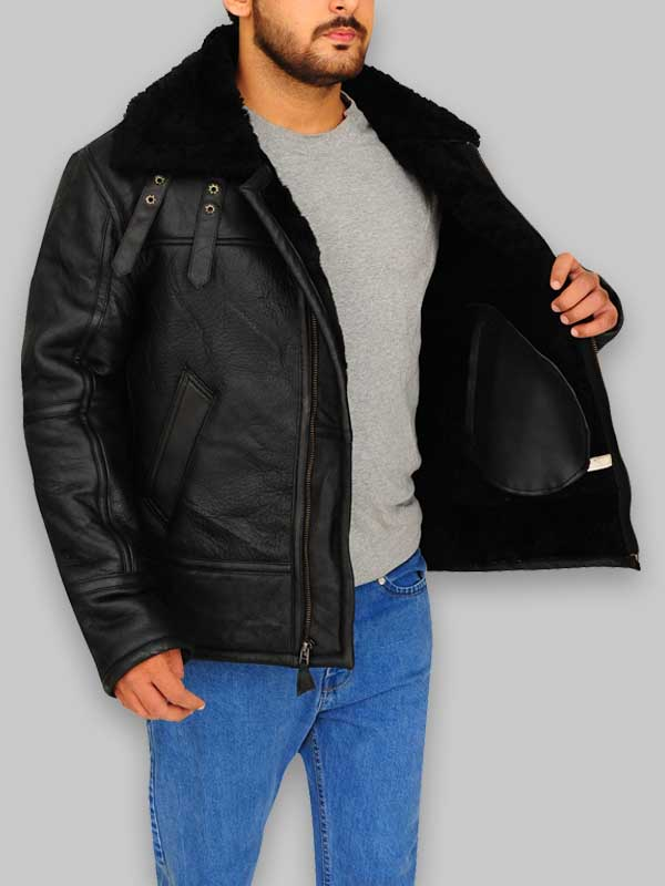 B3 Flying Shearling Leather Jackets