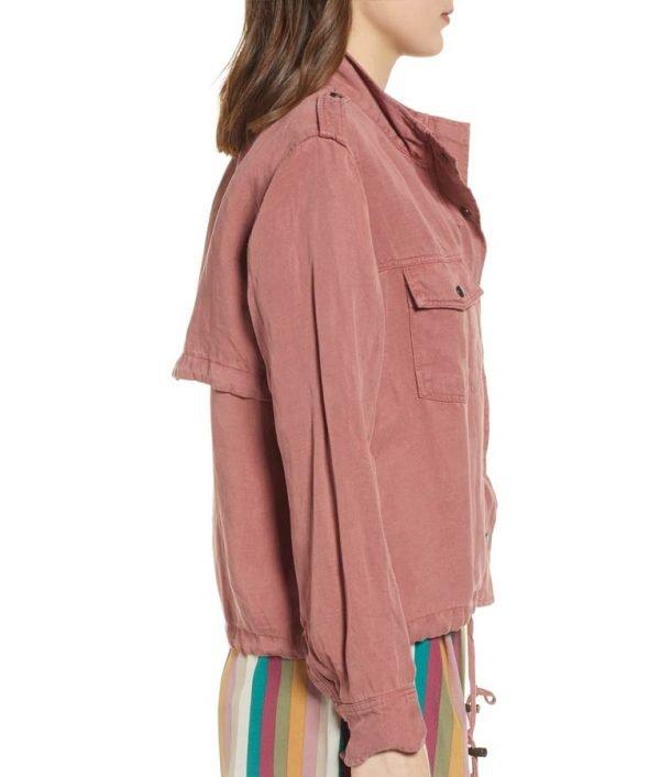 Lucifer Season 5 Episode 1 Megan Garner Pink Jacket