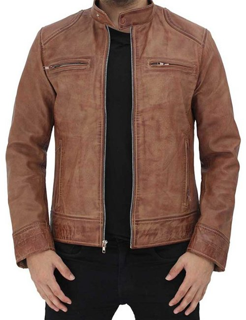Dodge-Distressed-Men-Cafe-Racer-Leather-Jacket