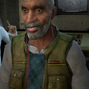 Half-Life 2 Dr. Eli Vance Green Leather Vest