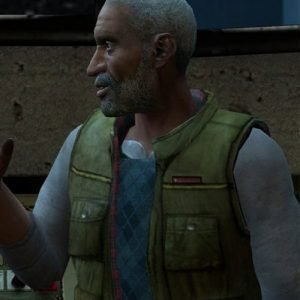 Green Leather vest worn by Dr. Eli Vance in Video Game Half-Life 2