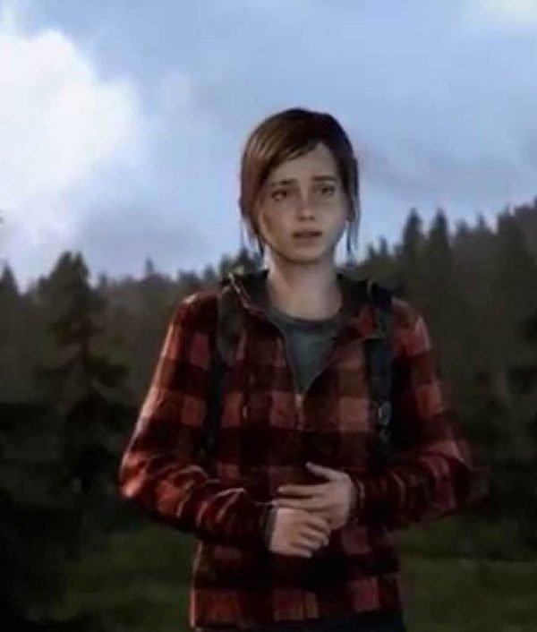 Video Game The Last Of Us Part II Ellie Red Plaid Hoodie