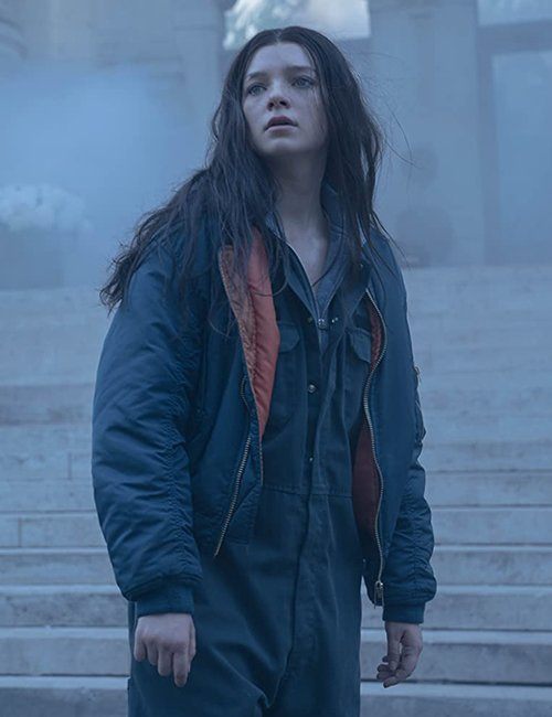 Blue Bomber Jacket worn by Esme Creed-Miles in Tv Series Hanna