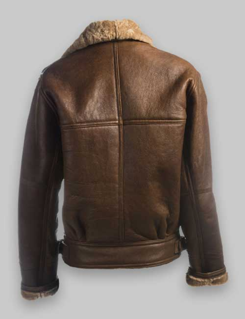 Women Flight Avaitor Brown Shealring Jacket