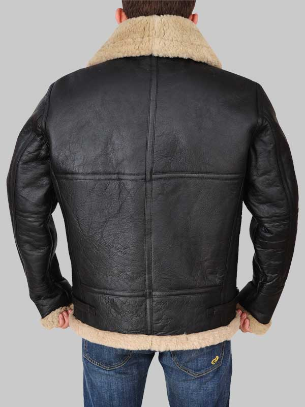 B3 Flying Aviator Men Shearling Jacket