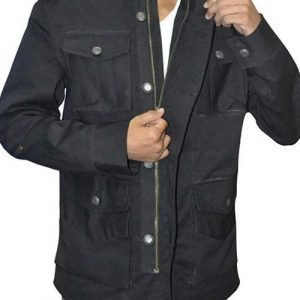 Jon-Bernthal-Black-Cotton-Jacket