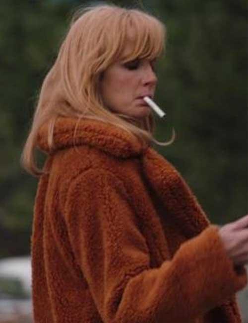 Kelly Reilly Yellowstone Beth Dutton Fur Shearling Jacket Coat