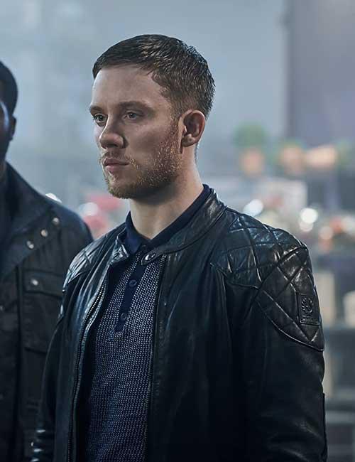 Sean Wallace Gangs of London Joe Cole Black Leather Jacket