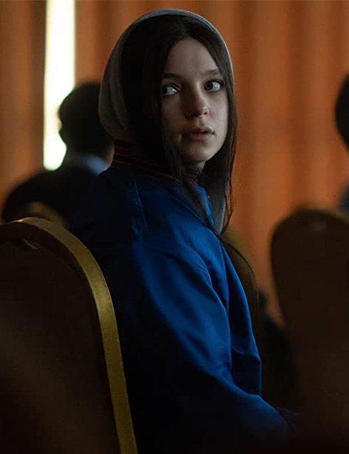 Esme Creed-Miles Tv Series Hanna S02 Blue Bomber Jacket