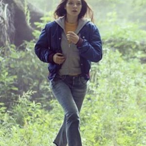 Bomber Blue Jacket worn by Esme Creed-Miles as seen in Han­na S02