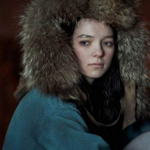 Esme Creed-Miles Tv Series Hanna Corduroy Coat With Fur Hood