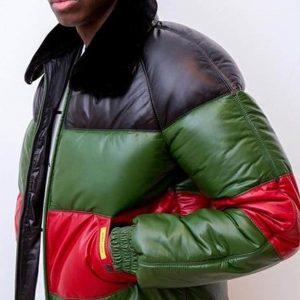 Hatik Validé Apash Puffer Tricolor Bomber Jacket
