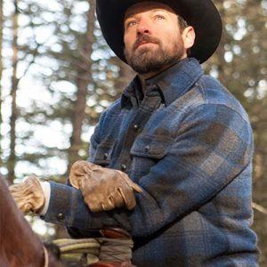 Ian-Bohan-Yellowstone-Ryan-Checkered-Jacket