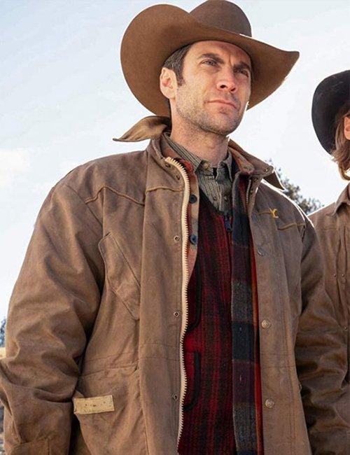 Jamie Dutton Tv Series Yellowstone Brown Cotton Jacket