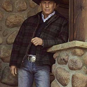 Kevin Costner Yellowstone Season 02 John Dutton Plaid Jacket