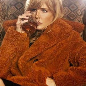 TV Series Yellowstone Kelly Reilly Shearling Fur Coat