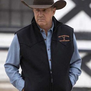 Kevin Costner TV Series Yellowstone Black John Dutton Vest