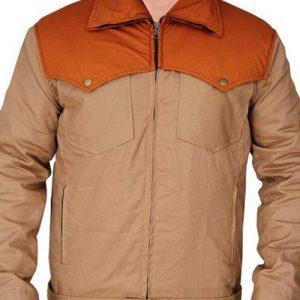 Yellowstone Series John Dutton Brown Cotton Kevin Costner Jacket