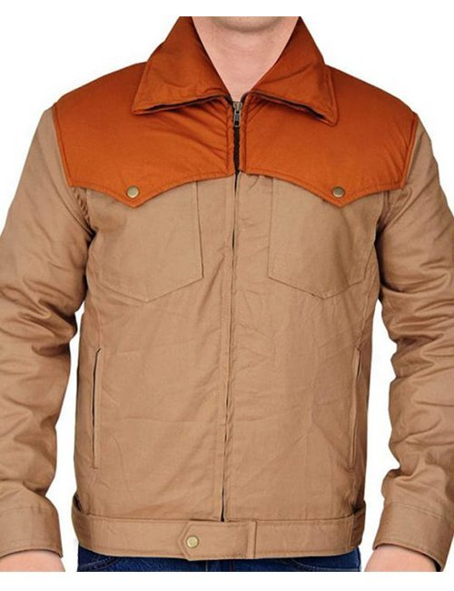 Yellowstone Series John Dutton Brown Cotton Kevin Costner Jacket