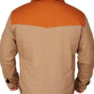 TV Series John Dutton Brown Cotton Kevin Costner Yellowstone Jacket