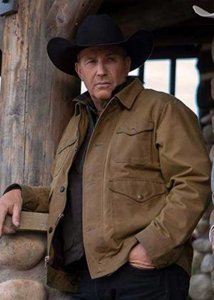 Brown Cotton Jacket worn by Kevin Costner in TV Series Yellowstone