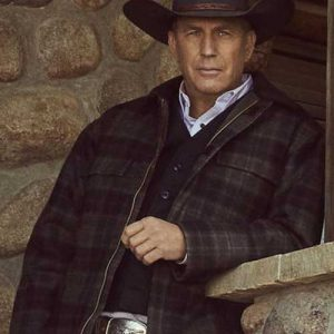 Kevin Costner Yellowstone S02 Plaid Jacket