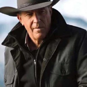 Grey Cotton Jacket worn by Kevin Costner in TV Series Yellowstone