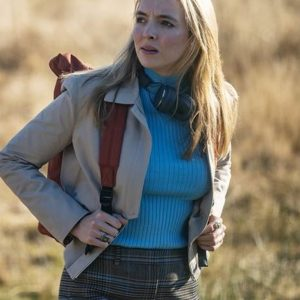 Jodie Comer TV Series Killing Eve Season 03 Villanelle Cotton Jacket