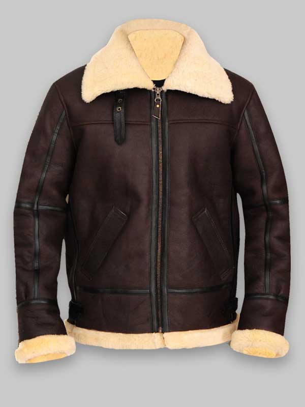 Brown Color Aviator Sheepskin B3 Jacket