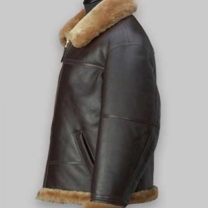 RAF Brown Shearling Jacket For Men