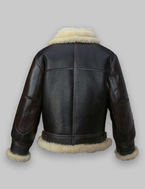 Men B3 Black Flying Shearling Jacket