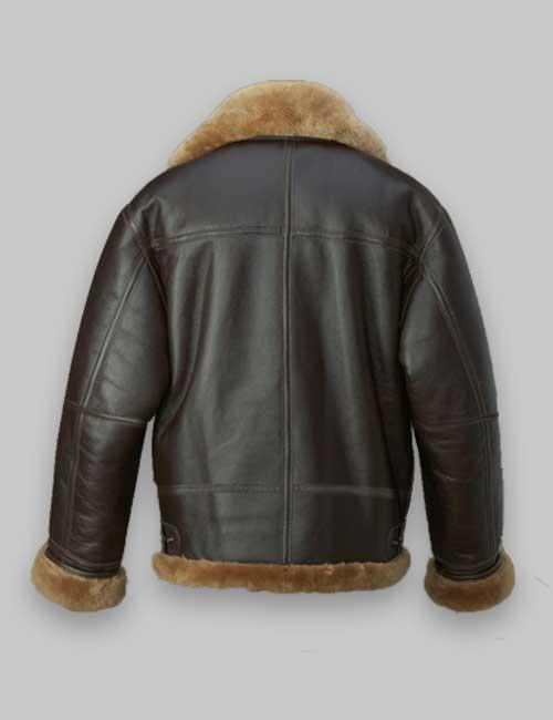 Men Brown RAF Avaitor Shearling Jacket