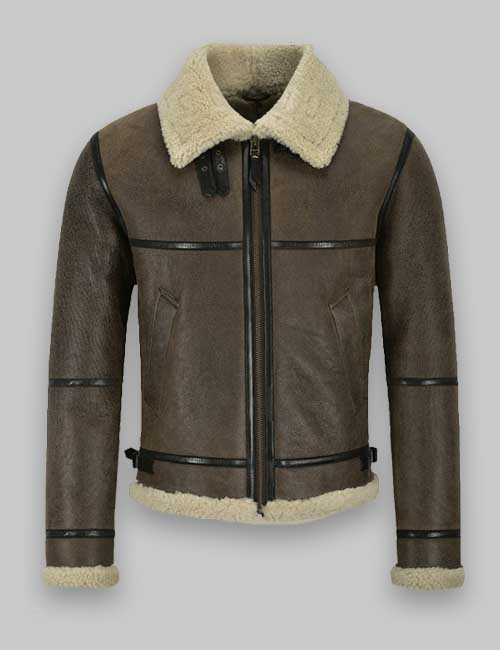 hooded faux shearling jacket at Hit jacket
