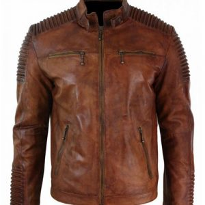 Mens-Cafe-Racer-Distressed-Brown-Biker-Leather-Jacket