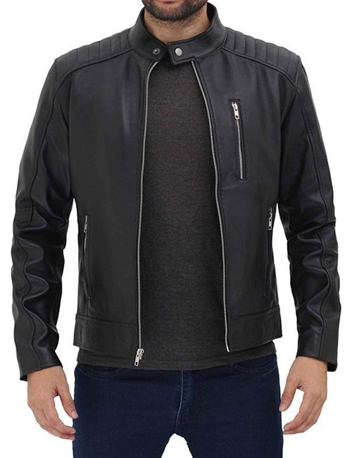 Mens-Lambskin-Black-Leather-Jacket