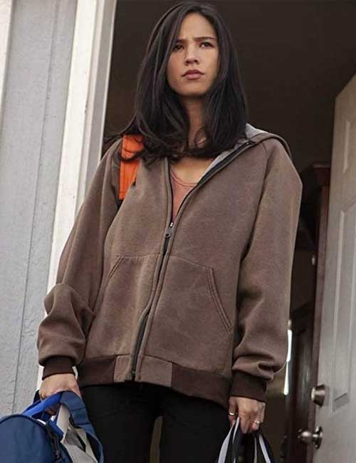 Brown Hoodie worn by Monica Dutton in Yellowstone TV Series