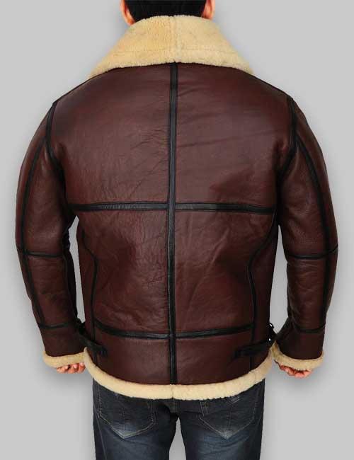 Men B3 Shearling Brown RAF Brown Bomber Jacket