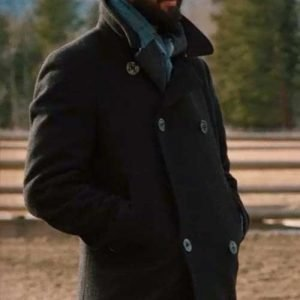 Ryan Bingham Yellowstone Series Black Peacoat